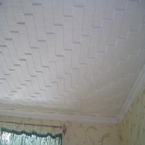 Потолочная плитка из пенополистирола