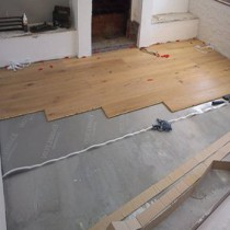 Настил ламината на бетонный пол своими руками