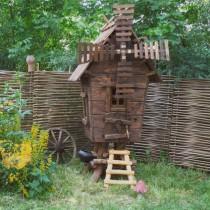 Чертежи и устройство декоративной мельницы для сада