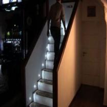 Устройство освещения лестницы в частном доме