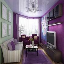 Сочетания фиолетовых цветов в интерьере