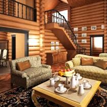 Оригинальные варианты интерьера дома из клееного бруса