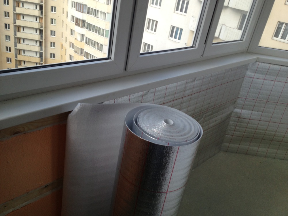 Гидро- и пароизоляция балкона