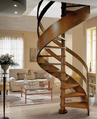 Крепление ступеней для винтовой лестницы