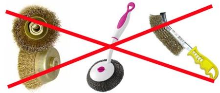 Запрещенные средства чистки
