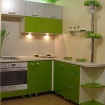Грамотный дизайн угловой кухни в хрущевке
