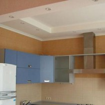 Дизайн потолков из гипсокартона на кухне