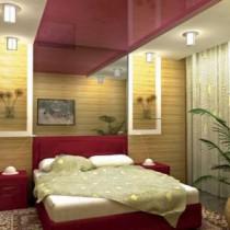 Конфигурации потолков из гипсокартона в спальне
