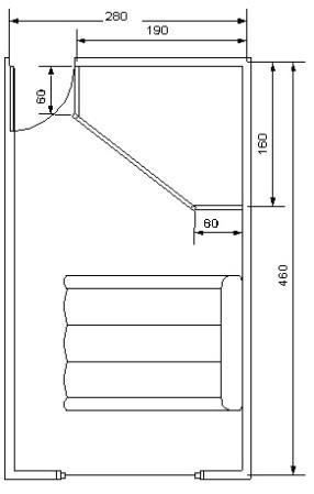 Схема угловой гардеробной