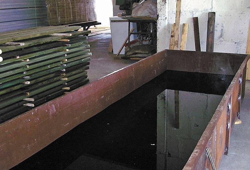 Вымачивание древесины в купоросе