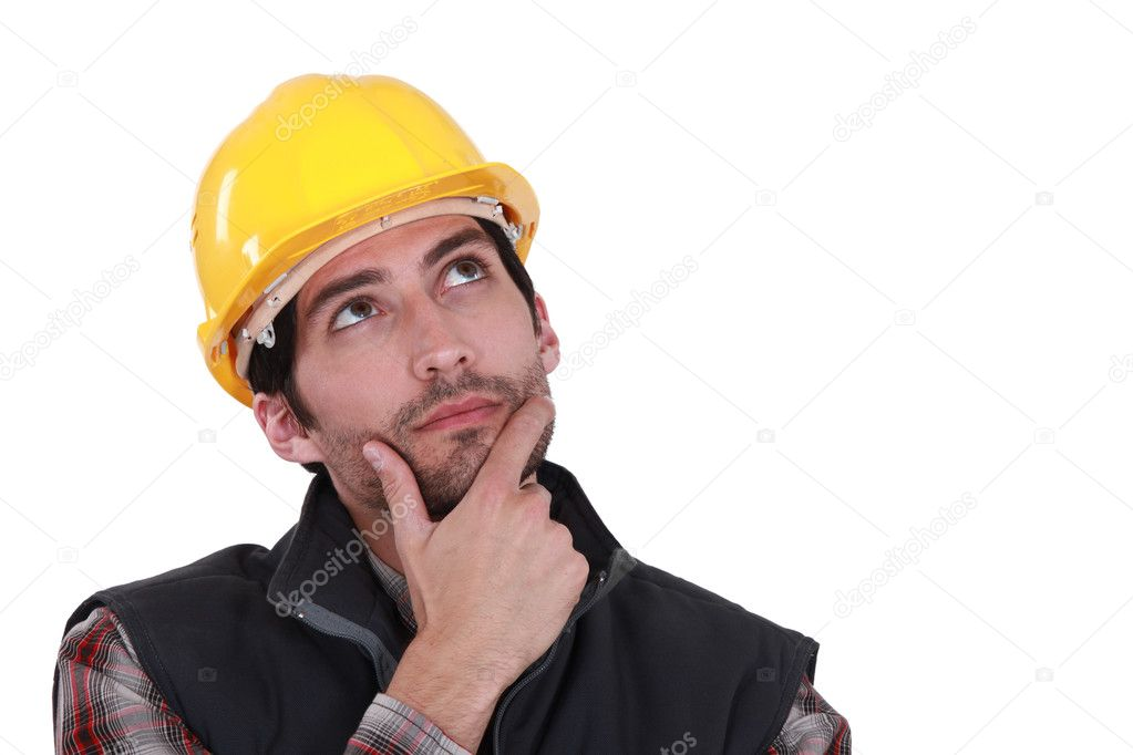 задумчивый строитель