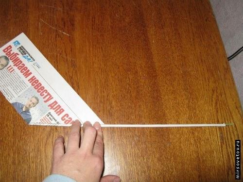 как сделать газетные трубочки