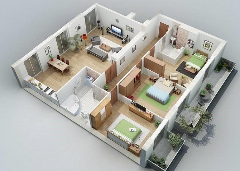 Планировка комнат в частном одноэтажном доме