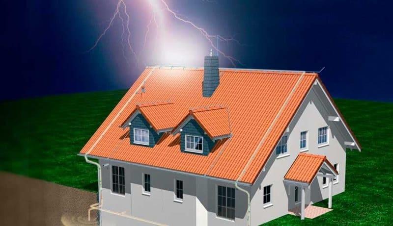 Безопасность частного дома: системы молниезащиты