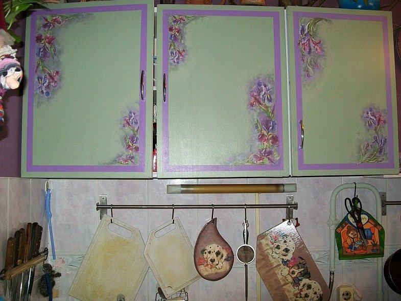 Как обновить кухонные шкафы своими руками фото