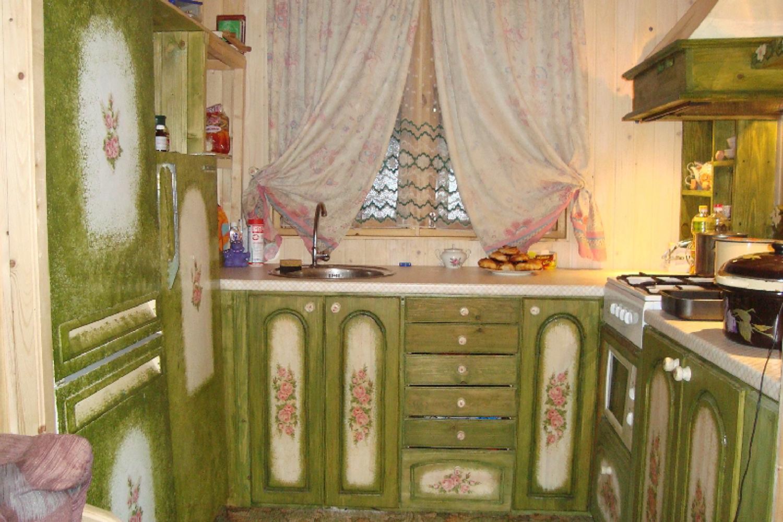 Деревянная кухня как обновить своими руками