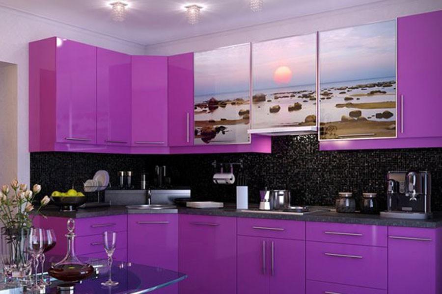 Кухни фиолетово сиреневого цвета