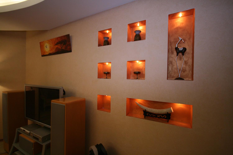 Ниша в стене из гипсокартона своими руками фото