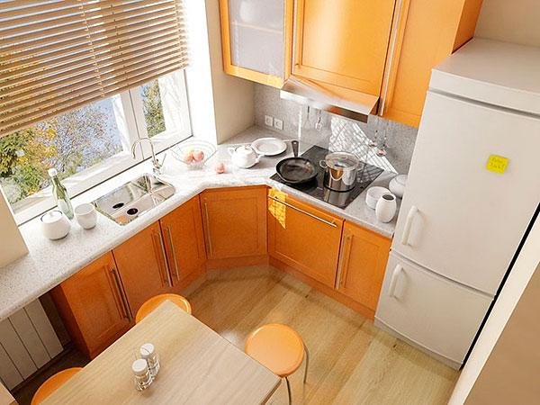 угловая кухня в хрущевке фото дизайн