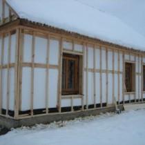 Этапы утепления каркасного дома пенопластом