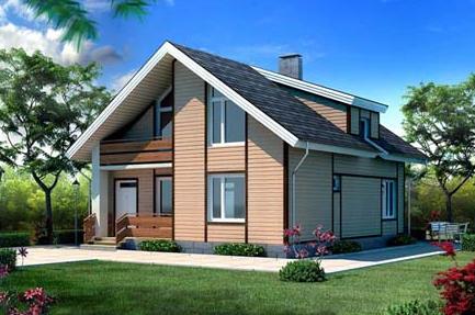 фото планировки небольших домов с мансардой