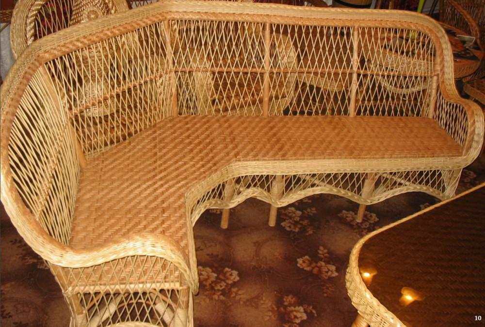Плетеная мебель своими руками из лозы