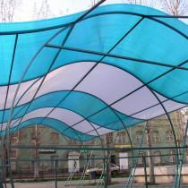 Терраса или беседка с крышей из поликарбоната своими руками