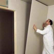 Ровняем стены из гипсокартона своими руками