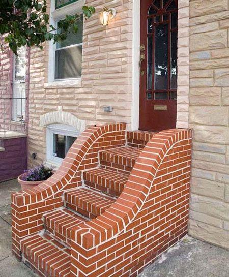 Лестница из кирпича
