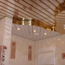 Виды потолка в ванной комнате