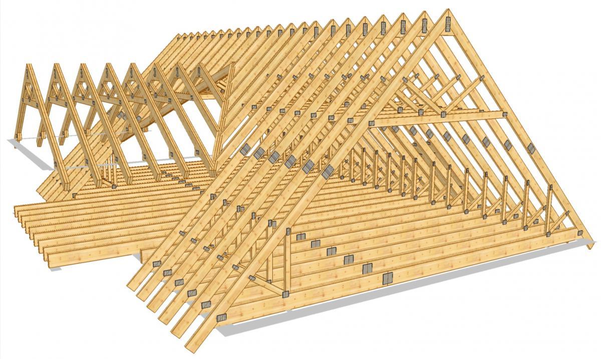 схема крыш четырехскатных