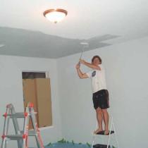 Урок по побелке потолка своими руками