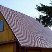 Покрыть односкатную крышу профнастилом своими руками фото 183