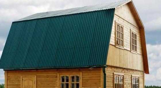 Двускатная ломаная крыша