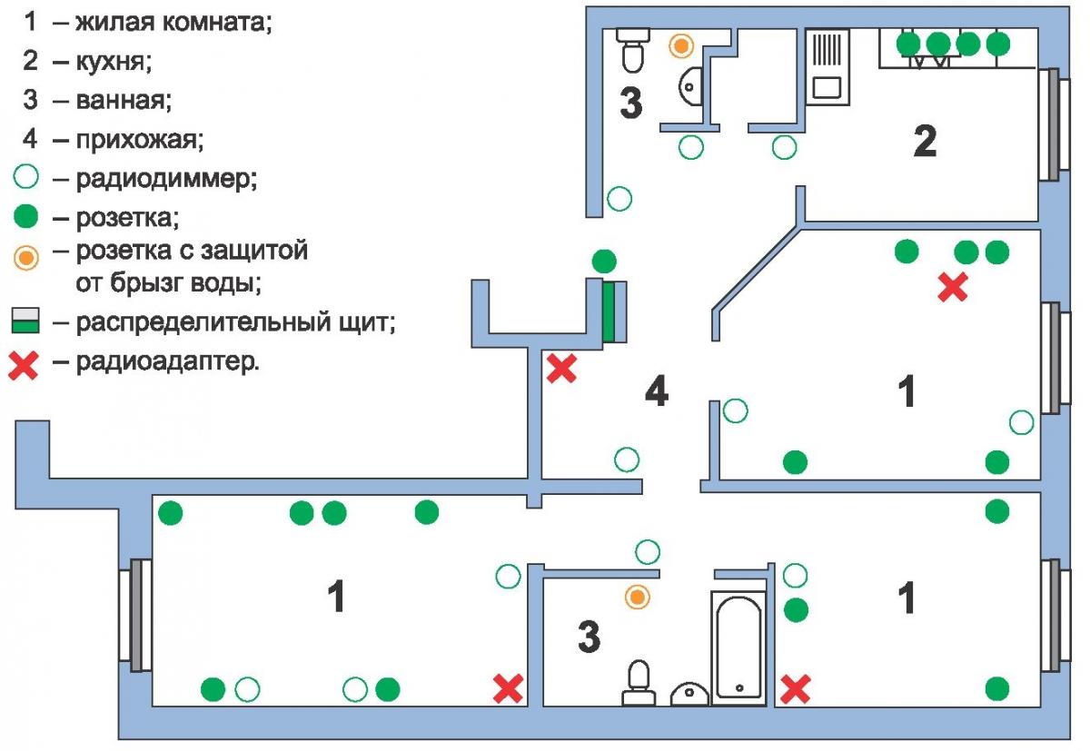 Схема электрики в квартире фото 172