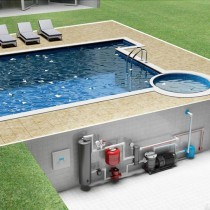 Обогрев бассейна на даче 153