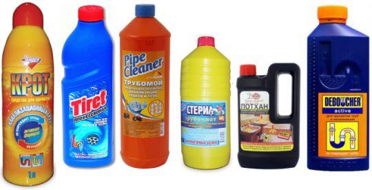 Химические средства прочистки