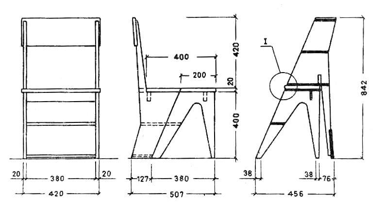 Как сделать стул своими руками чертеж